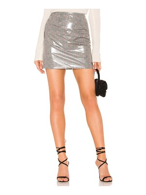 by the way. aime vinyl mini skirt