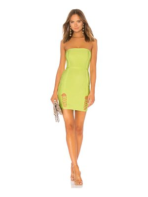 by the way. Cassidy Lace Up Slit Bandage Dress