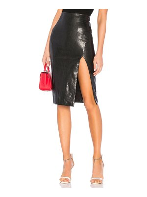 by the way. Jezabel Faux Leather Midi Skirt