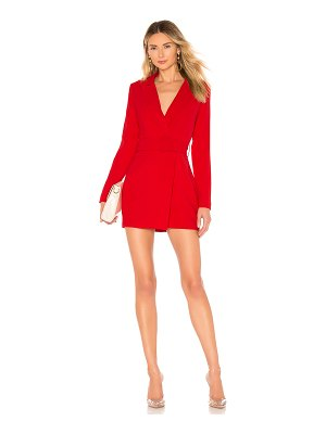 superdown joan belted blazer dress