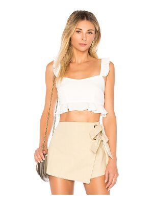 superdown monroe ruffle crop top