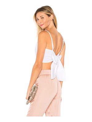 superdown morgon tie back crop top