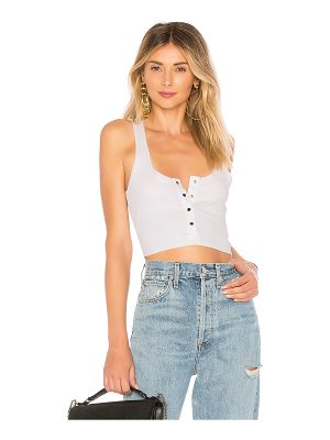 superdown toni snap front crop top