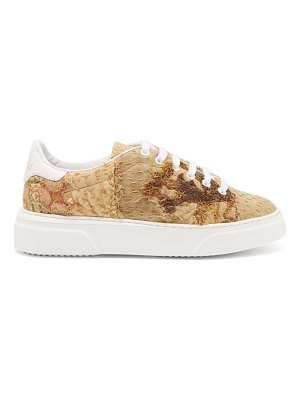 BY WALID 17th-century tapestry low-top trainers