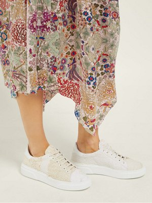 BY WALID 19th century french lace low top trainers