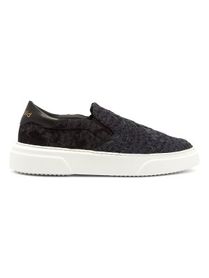 BY WALID 19th century panelled low top trainers
