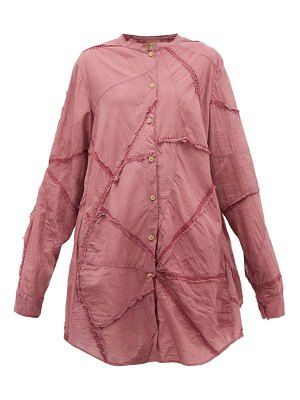BY WALID ally triangle-panel cotton shirtdress