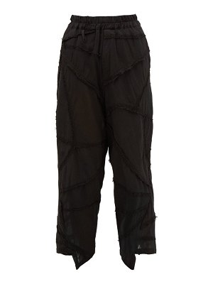 BY WALID artem triangle-panel cotton trousers