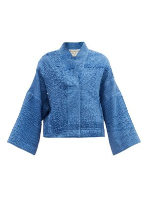 BY WALID cassie upcycled-cotton embroidered jacket