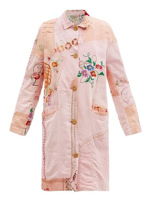 BY WALID clara embroidered 1920s-linen coat