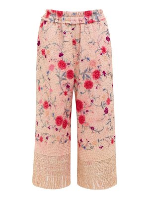 BY WALID dania cropped 19th century silk trousers