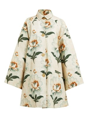 BY WALID floral print cotton coat