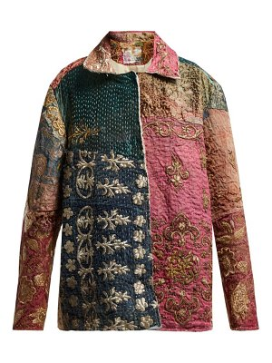 BY WALID Hope Panelled 19th Century Silk Jacket