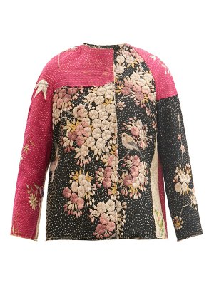 BY WALID ilana upcycled embroidered silk-blend jacket