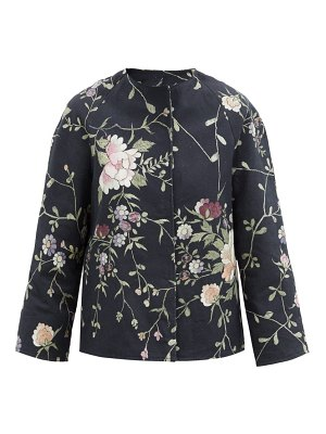 BY WALID ilana upcycled floral-jacquard cotton jacket