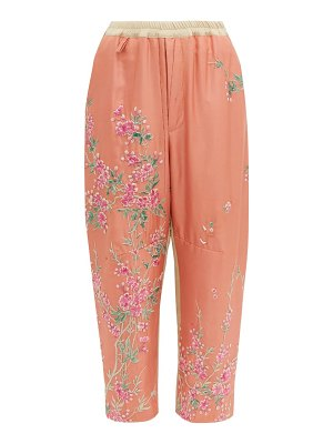 BY WALID jay 19th century kimono silk trousers