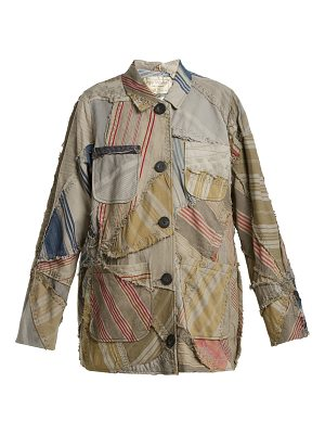 BY WALID Linda 19th-century patchwork linen jacket