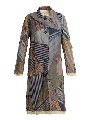 BY WALID lori 19th century print linen coat