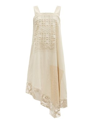 BY WALID maggy upcycled-lace cotton dress