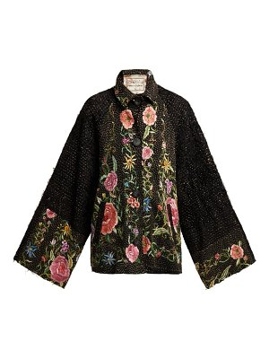 BY WALID Marion Embroidered 19th Century Silk Jacket