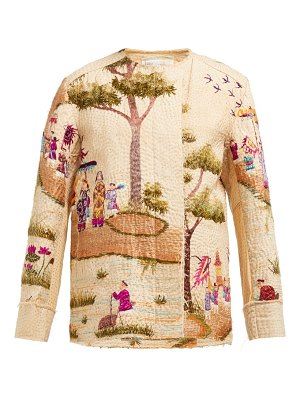 BY WALID maya embroidered cotton canvas jacket