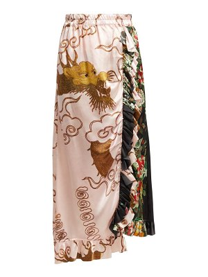 BY WALID Ofra Antique Silk Skirt