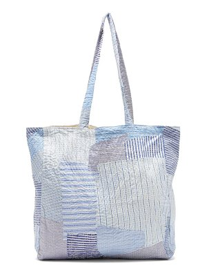 BY WALID patchwork cotton poplin tote bag