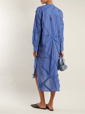 BY WALID patchwork cotton shirtdress