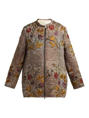 BY WALID Samia Embroidered 19th Century Silk Jacket