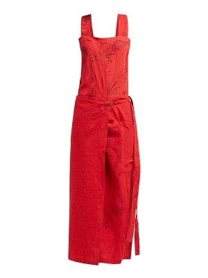 BY WALID shirley 20th-century embroidered linen dress