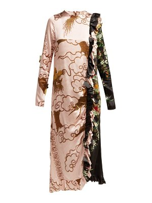 BY WALID Suna Antique Silk Dress
