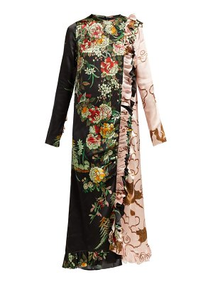 BY WALID Suna Print Silk Dress