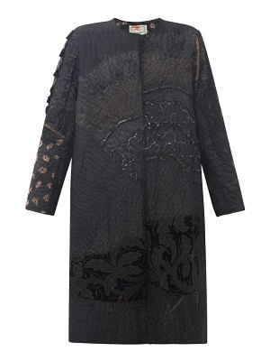 BY WALID tanita embroidered 19th-century silk coat