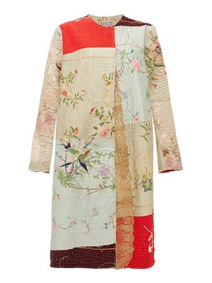BY WALID tanita embroidered antique-silk coat