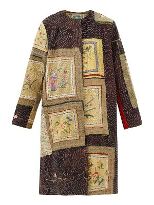BY WALID tanita floral-embroidered silk coat