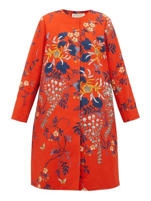 BY WALID tanita floral print cotton coat