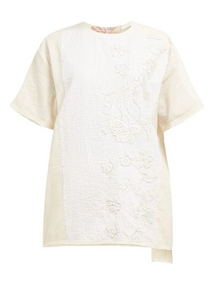 BY WALID tatum floral embroidered cotton t shirt