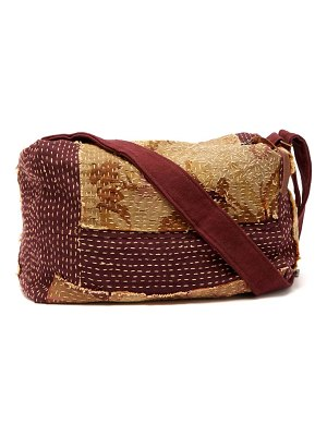 BY WALID topstiched tapestry canvas holdall