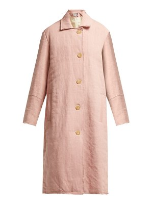 BY WALID Vicki Raw Edge Linen Coat
