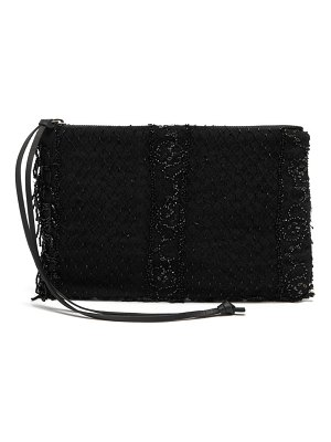 BY WALID victorian bead-embroidered clutch
