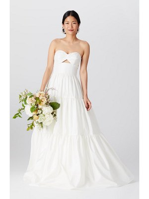 BY WATTERS brennan strapless cutout bodice wedding dress