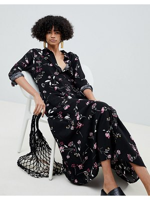 b.Young high neck floral midi dress