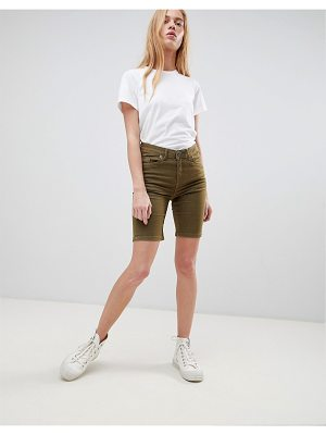 b.Young longline denim shorts