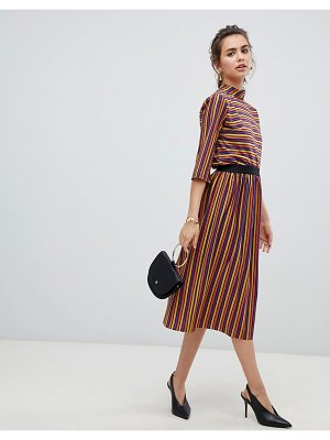 b.Young metallic stripe skirt