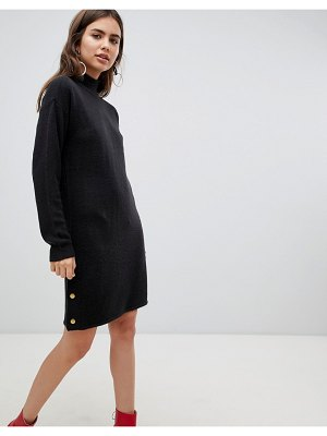 b.Young sweater dress with gold button detail
