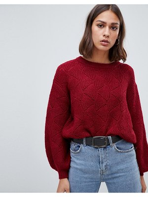 b.Young textured sweater