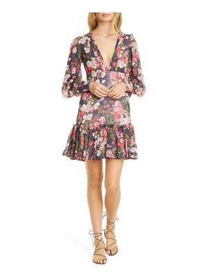 byTiMo floral ruffle long sleeve minidress