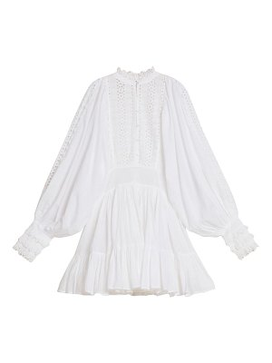 byTiMo long sleeve broderie anglaise minidress