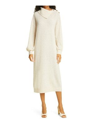 byTiMo teddy long sleeve stretch wool sweater dress