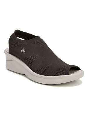 BZEES secret peep toe knit sneaker